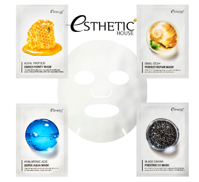 Набор тканевых масок Esthetic Solution Perfect Skinfit Mask 4 Type