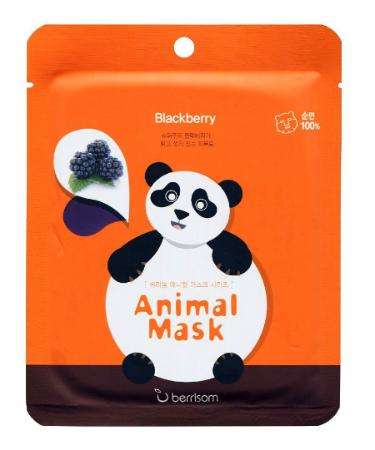 Маска-панда с экстрактом ежевики Berrisom Animal Mask Series Panda