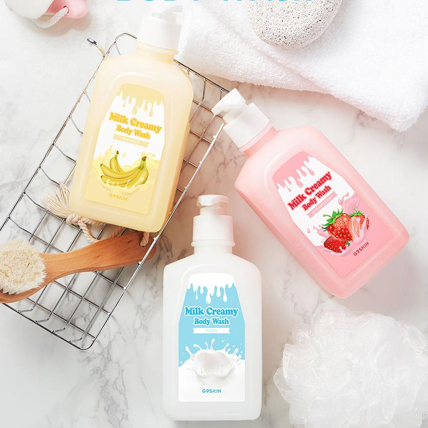 Гель для душа MILK CREAMY BODY WASH STRAWBERRY 520гр