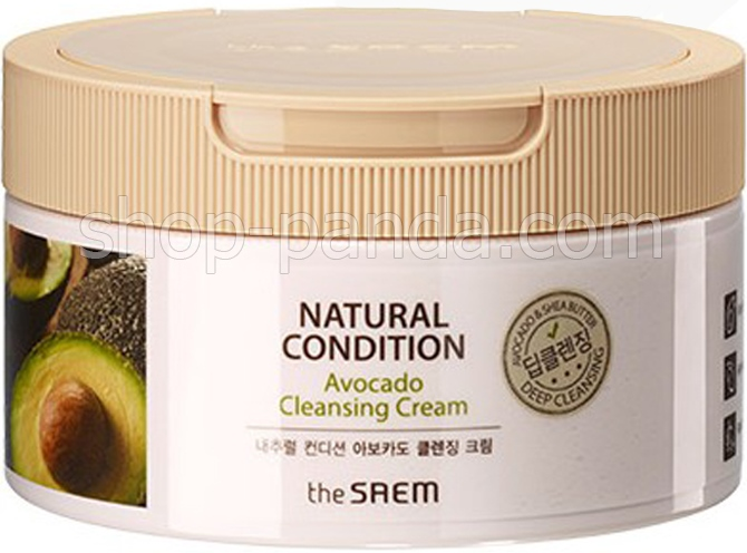 Крем для очищения кожи с авокадо The Saem Natural Condition Avocado Cleansing Cream