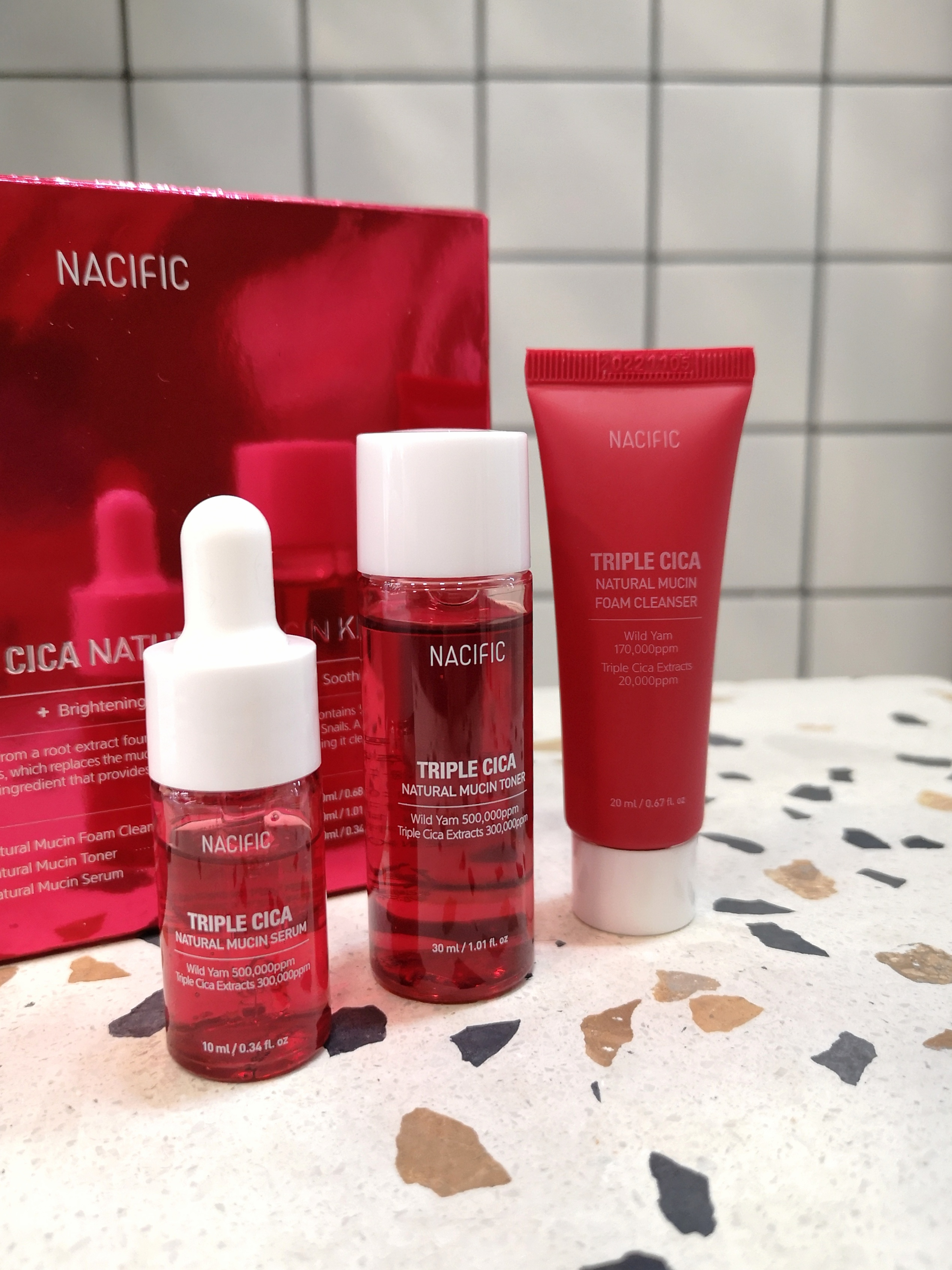 Nacific Triple Cica Natural Mucin Kit