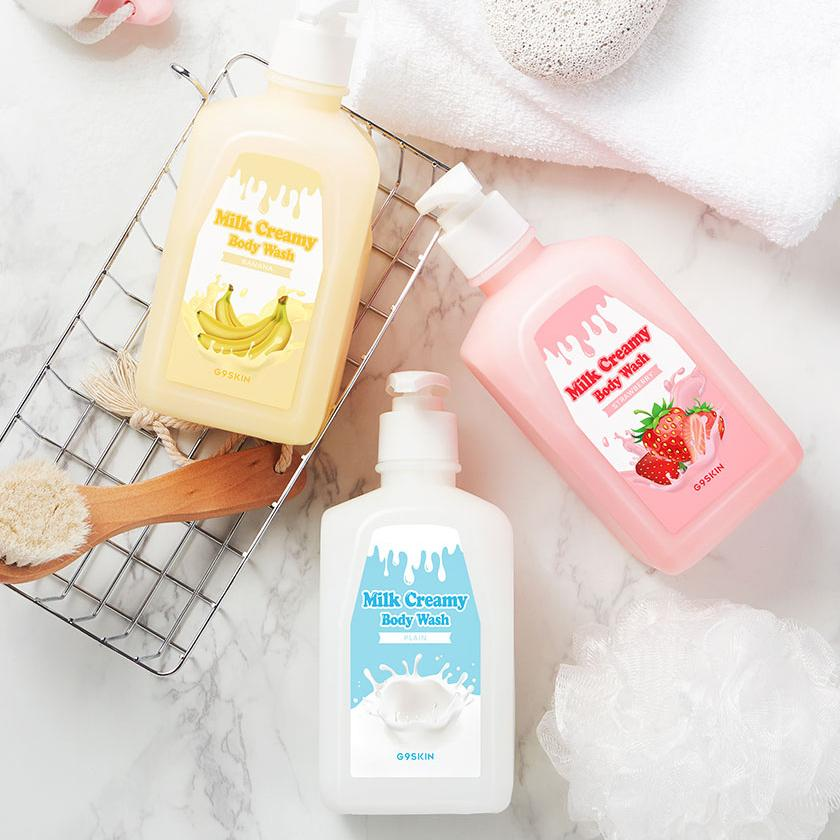 Гель для душа MILK CREAMY BODY WASH BANANA 520гр