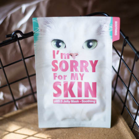 Тканевая маска успокаивающая с центеллой I'm Sorry For My Skin pH5.5 Jelly Mask-Soothing (Cat)
