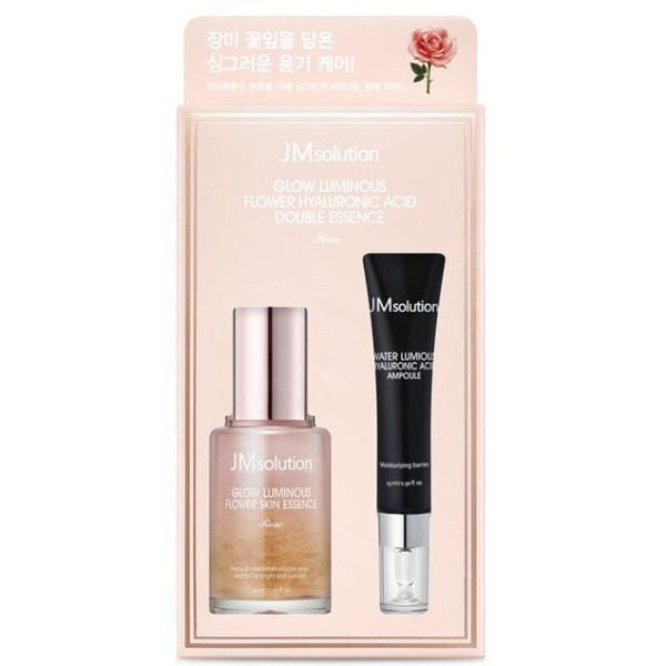 Сыворотки от морщин с розой JMSolution Glow Luminous Flower Hyaluronic Acid Double Essence