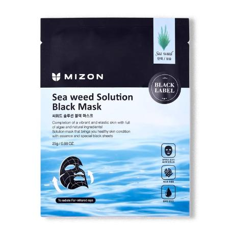 Маска для лица с морскими водорослями MIZON Sea weed Solution Black Mask